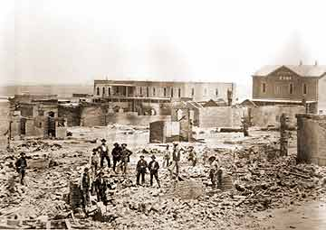 After the 1882 fire in Tombstone Arizona