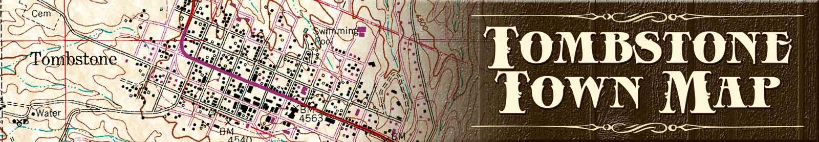 Tombstone Arizona Town Map