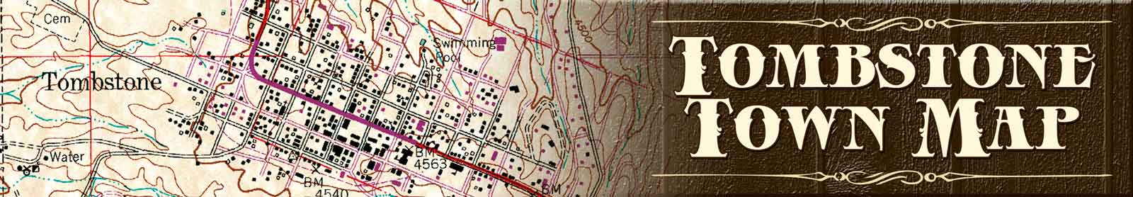 Map Of Arizona Historical Sites.Tombstone Map Tombstoneweb Com